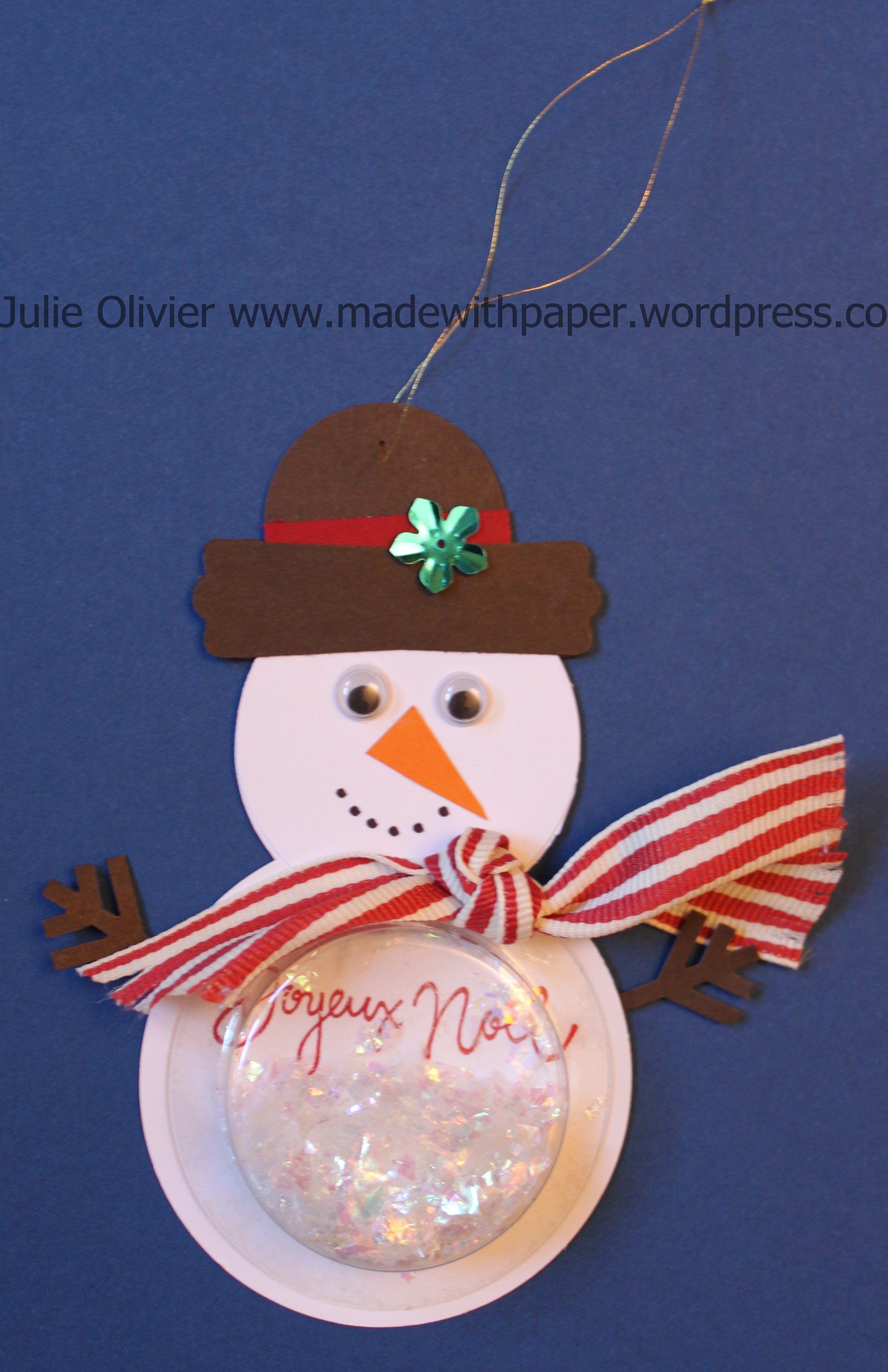 Children Project Snowman Shaker Ornament Made With Paper
