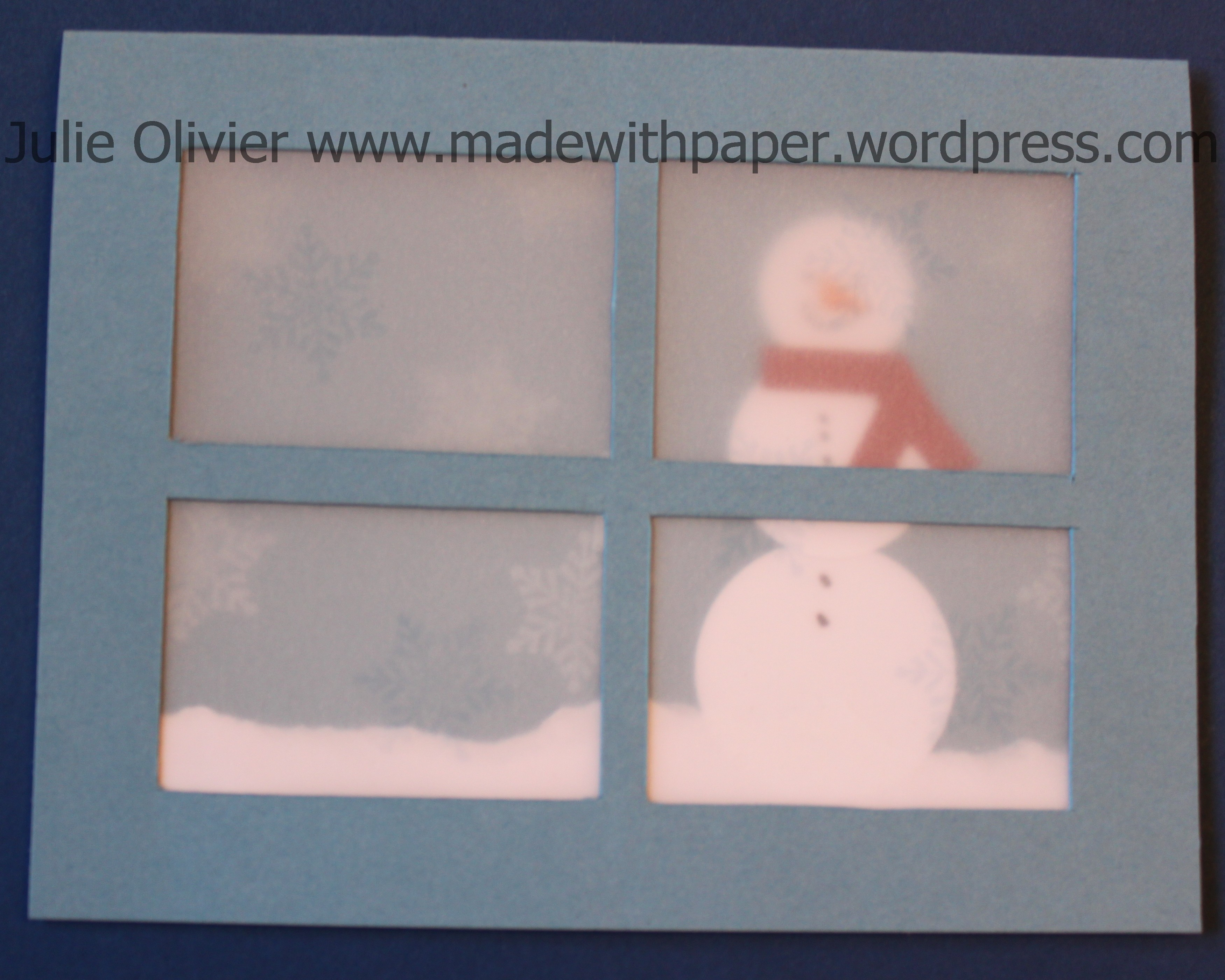 Vellum week: window card | Made with paper Real Snowflake
