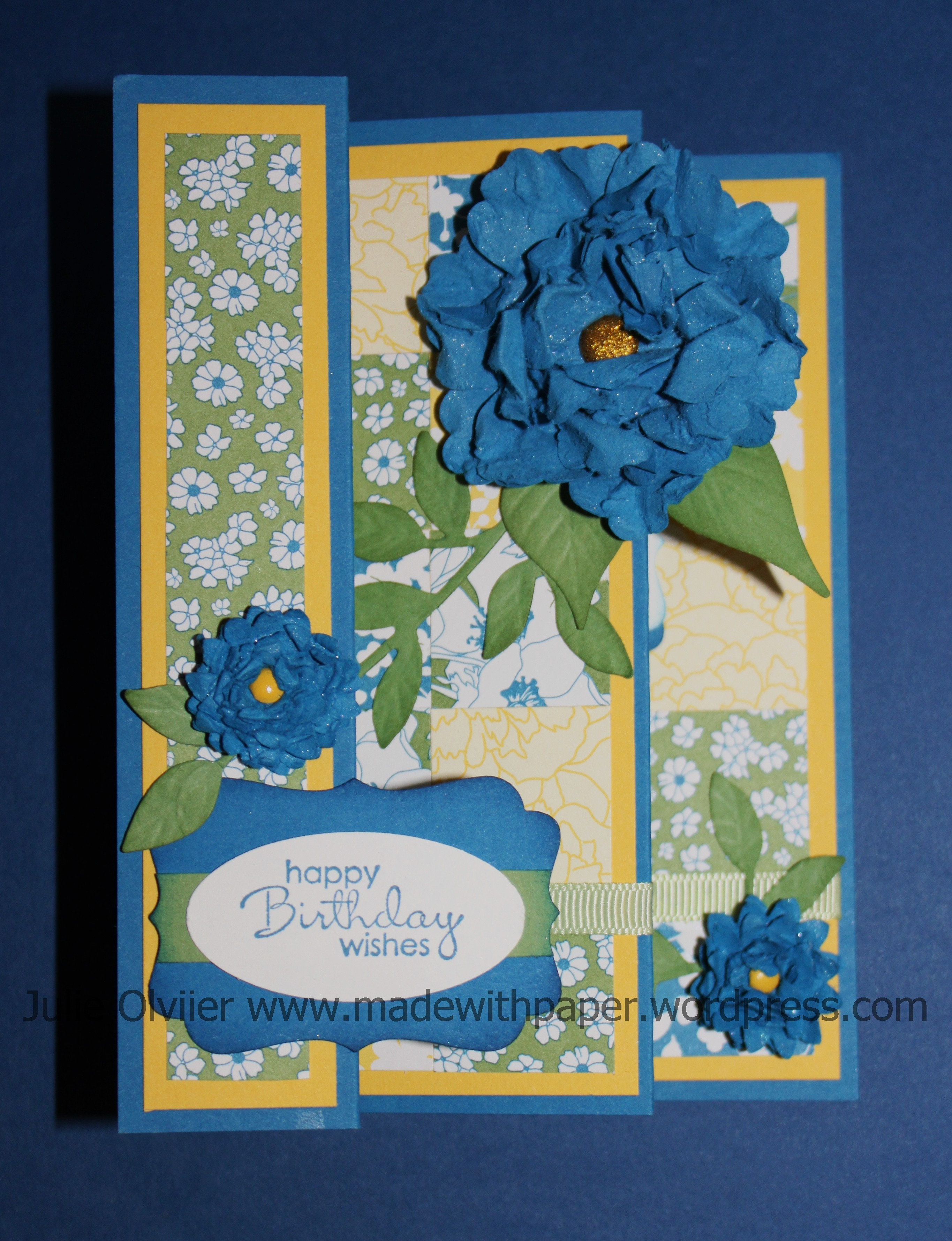 tri fold card made with paper