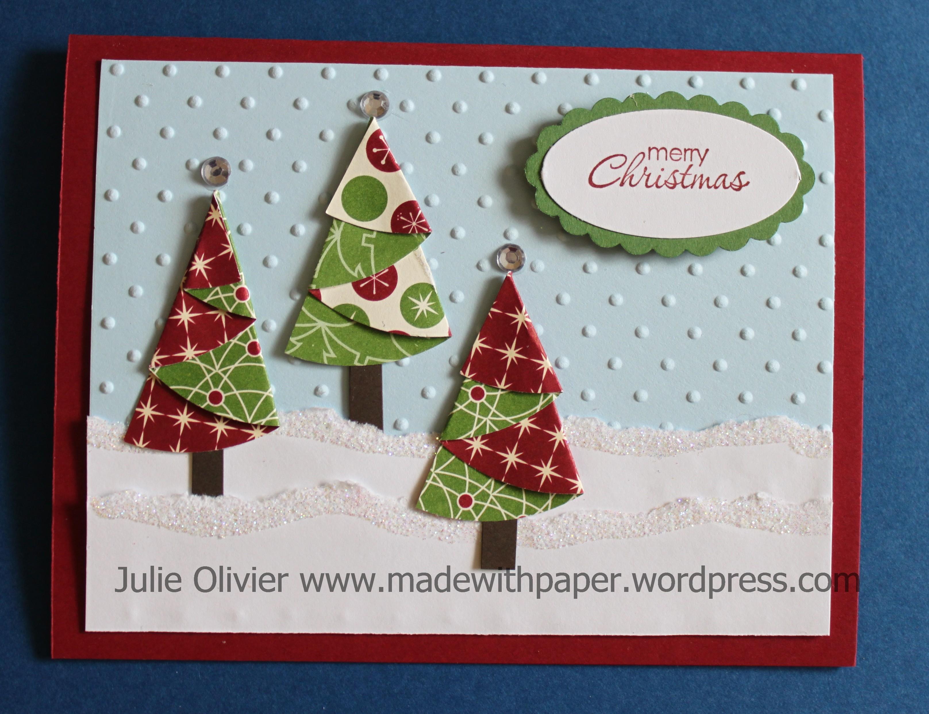 """Be Of Good Cheer"" Designer Series Paper Christmas Trees"