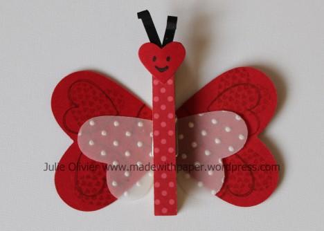 papillon coeurs
