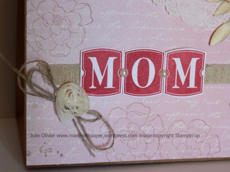 Mother gift bag MOM close-up