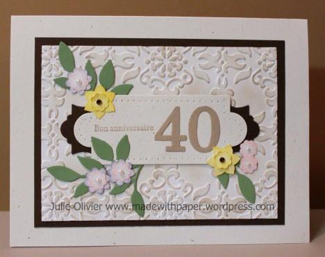 anniversaire 40e
