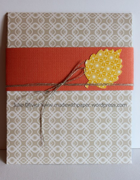 Tablescape envelope closed