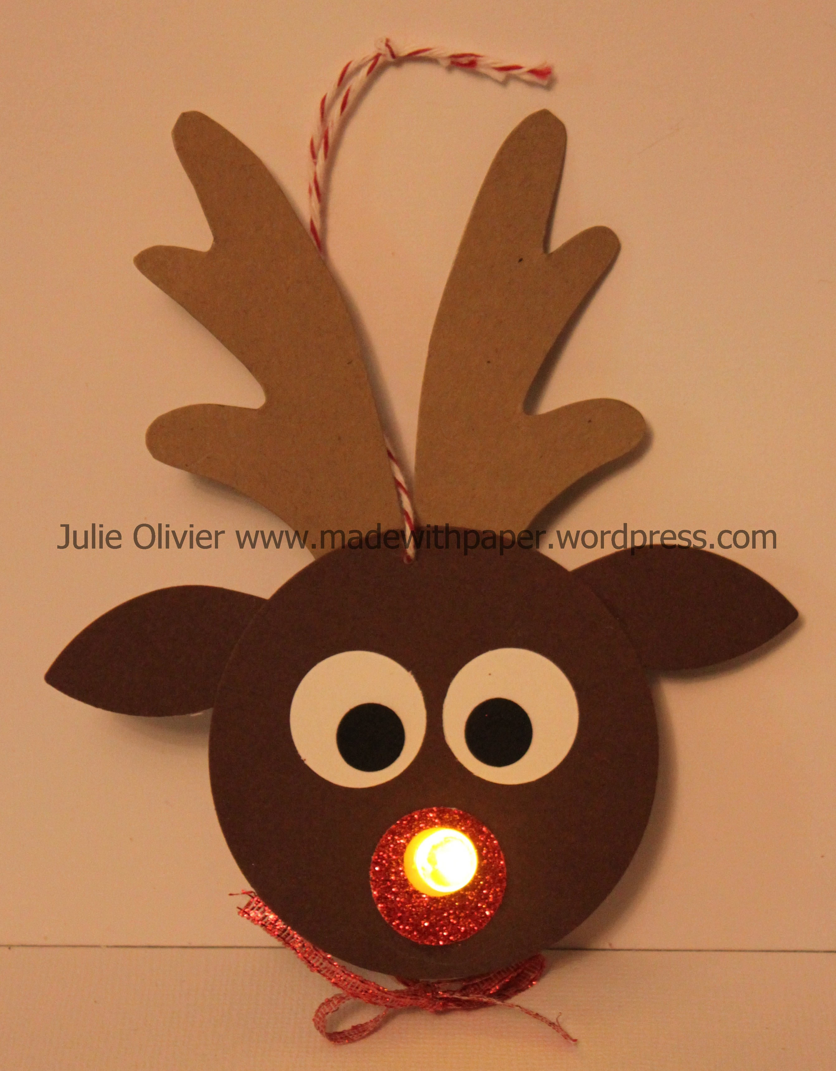 nablopomo day 13 tealight reindeer made with paper. Black Bedroom Furniture Sets. Home Design Ideas