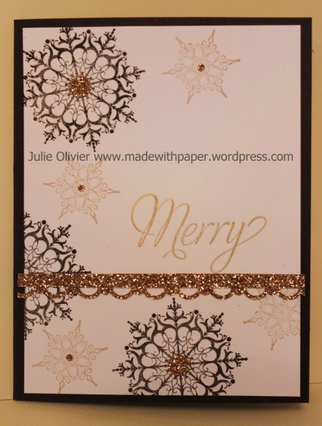 Snowflake Soiree gold brown