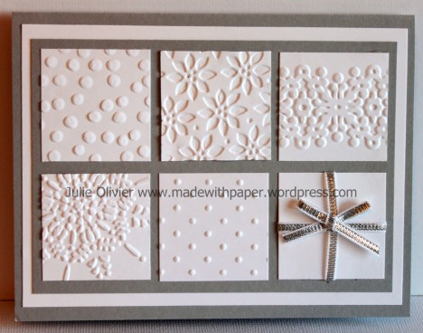 Christmas embossed squares