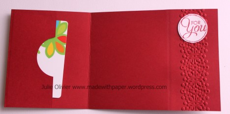 Washi tape gift card holder opened