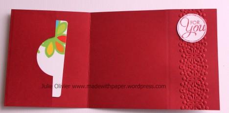 Washi tape gift card holder opened