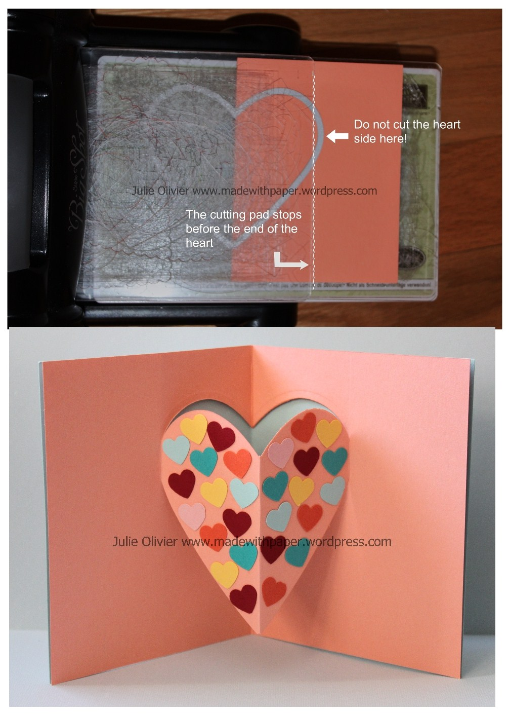 Pop Up Card For Valentine S Day Made With Paper