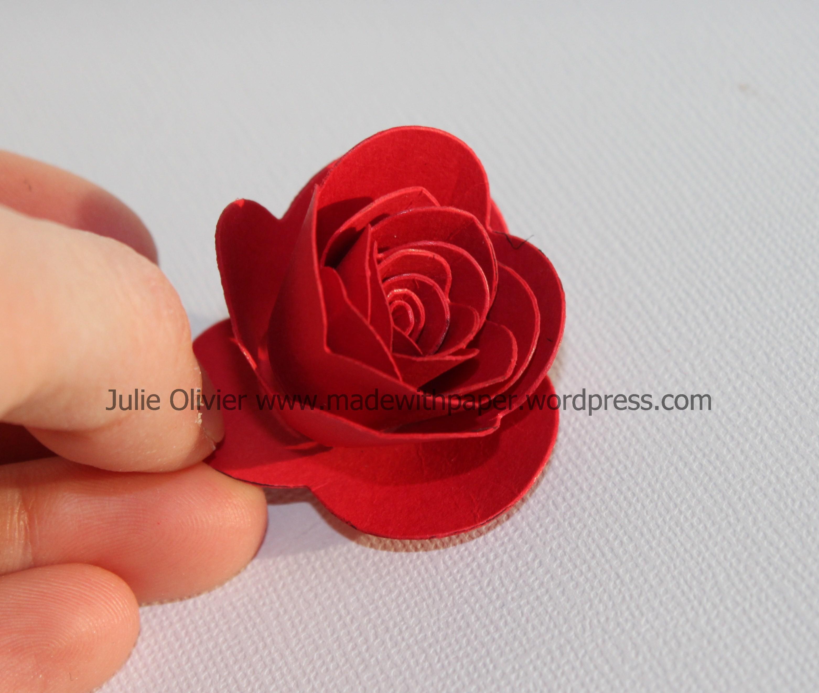 Spiral Flower Die Made With Paper