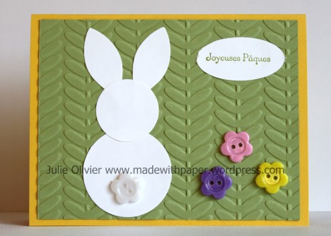 Pâques carte lapin
