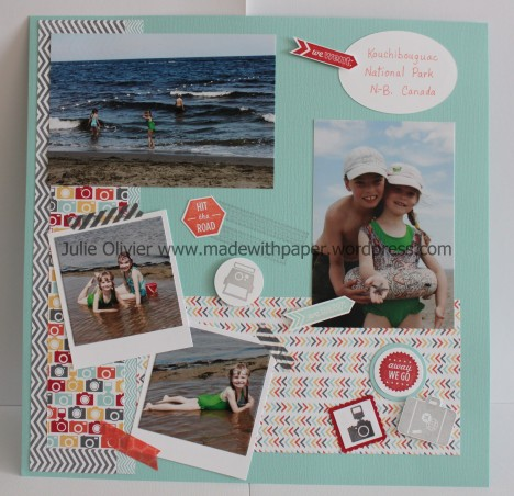 Scrapbook page Travel