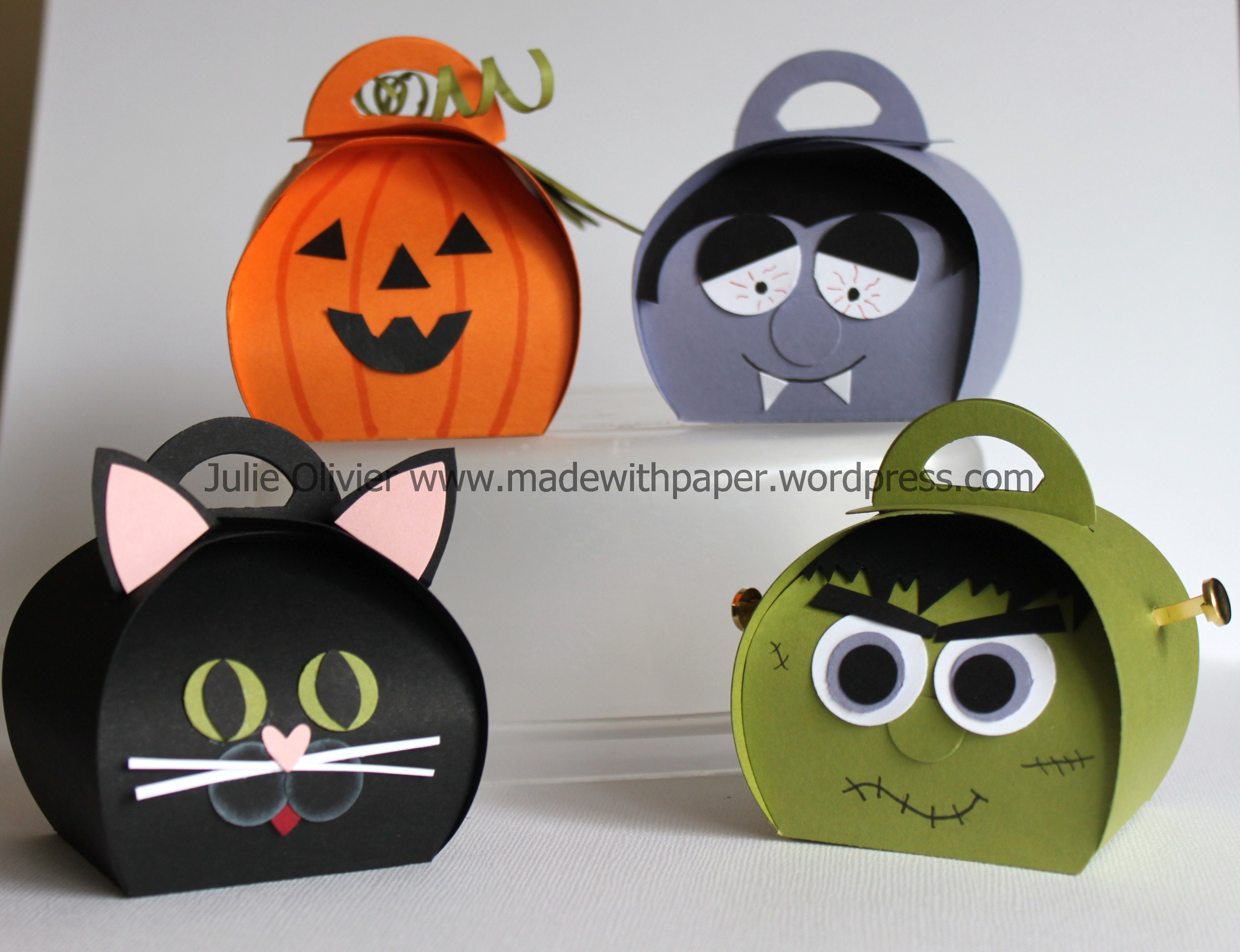 Halloween Treat Boxes With Curvy Keepsake Box Thinlits Dies Made