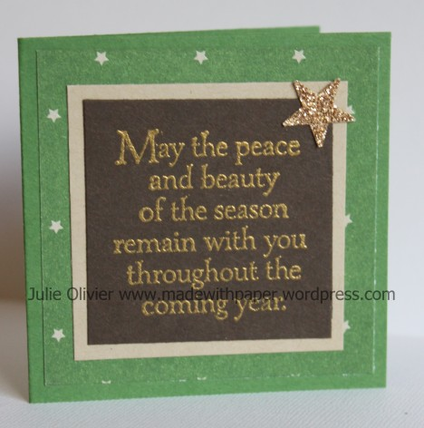 mini-card embossed