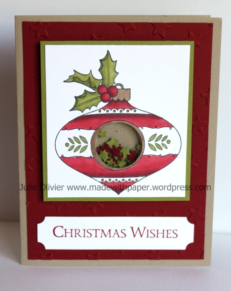 Christmas Bauble card #2