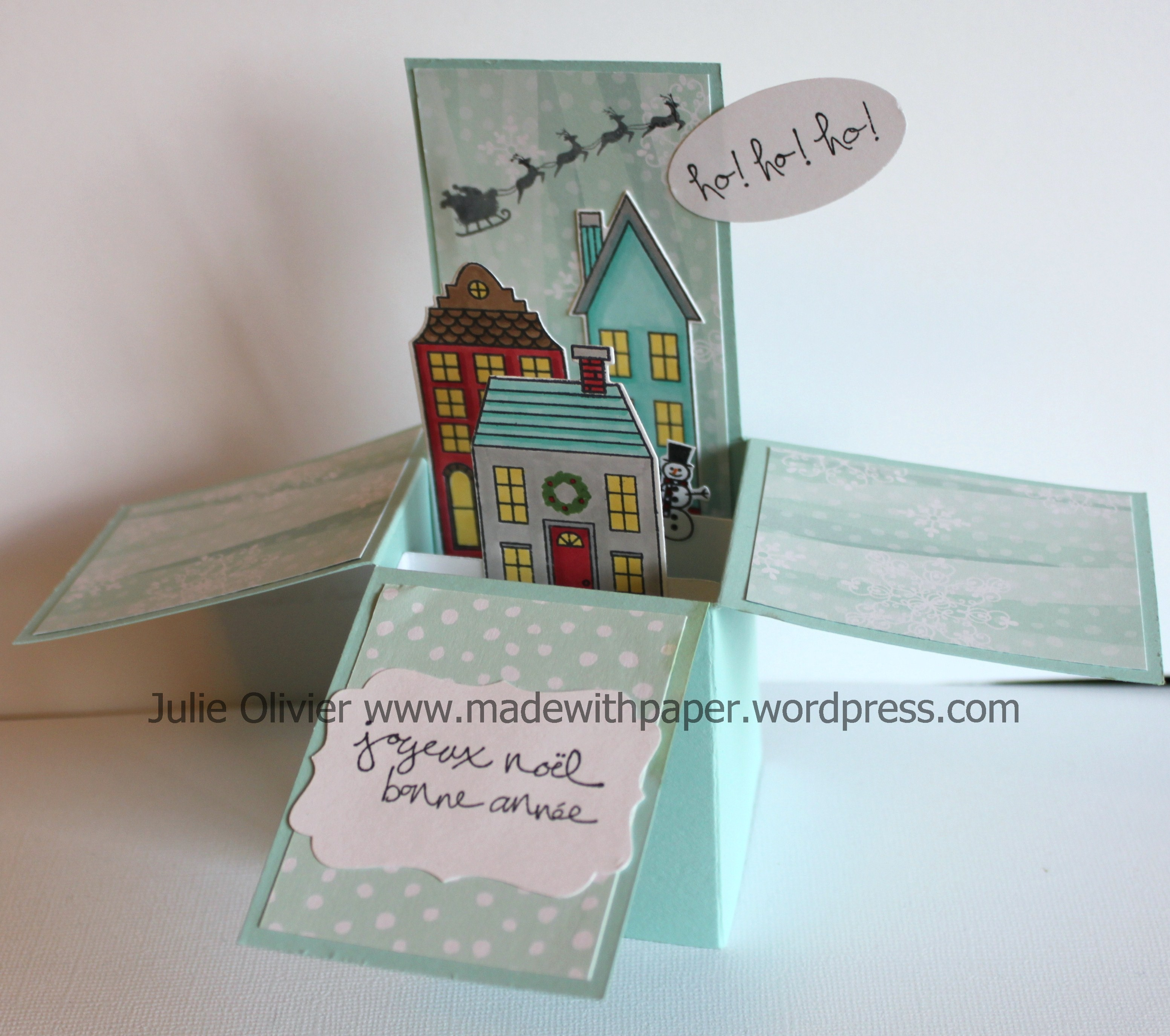 Super Holiday Homes Card in a Box | Made with paper &LR_08